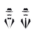 gentleman symbols avatar icon male sign vector image vector image