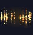 golden bokeh sparkle glitter lights luxury glamor vector image vector image