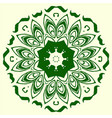 green geometric element of the ornament vector image vector image