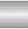 halftone seamless pattern wavy lines chains vector image