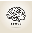 icon brain vector image vector image