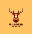 logo deer simple mascot style vector image