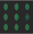 logo patterned green leaf plants icon set in vector image