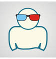 man in 3d glasses vector image