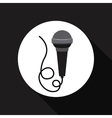 microphone icon design vector image