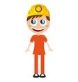 miner comic character worker vector image