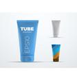 mockup realistic plastic tube for cream or liquid vector image