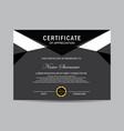 modern certificate vector image vector image