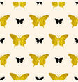 pattern with golden and black butterflies vector image vector image