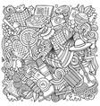 picnic hand drawn doodles bbq vector image