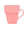 red tea or coffee mug cute ceramic crockery vector image vector image