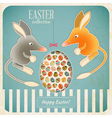 Retro Vintage Card with Easter Australian Bilby vector image vector image