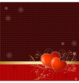 retro wallpaper with valentine vector image vector image