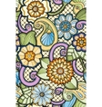 Seamless ornamental colorful pattern with stylized vector image vector image