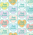 Seamless pattern with sketch hearts on a white vector image vector image