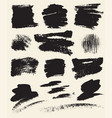 set hand drawn brush strokes and stains vector image vector image