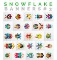 Set of Christmas Snowflake Banner Templates vector image vector image