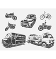 set of transport motorcycle vector image vector image