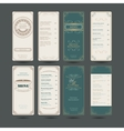 Set Of Vintage Restaurant Menu Design Template vector image vector image