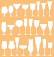 set wine glass icon vector image