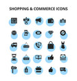 shopping commerce icons vector image