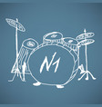 sketches drum kit vector image vector image