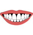 smile front teeth vector image vector image