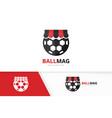 soccer and shop logo combination ball vector image