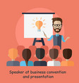 speaker at business convention and presentation vector image vector image
