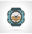Sport watch flat style icon vector image vector image