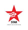 star logo design success concept sign leadership vector image