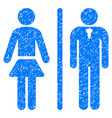 toilet persons grunge icon vector image vector image