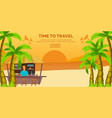 travel flat time to travel vector image