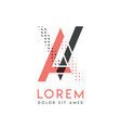 va modern logo design with gray and pink color vector image vector image