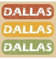 Vintage Dallas stamp set vector image vector image