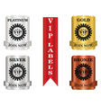 vip package labels vector image vector image