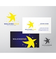 Walking Star Abstract Logo and Business vector image