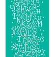 White on green alphabet letters vertical seamless vector image vector image
