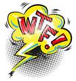 wtf comic speech bubble cartoon icon vector image