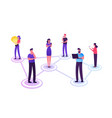 young people characters chatting in social vector image vector image