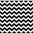 Zig zag simple pattern - black and white vector image vector image