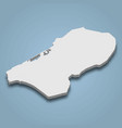 3d isometric map flevopolder is an island in vector image vector image