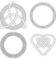 4 Celtic patterns vector image