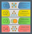 abstract symbols banner templates set vector image