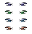 Anime style eyes2 vector image vector image