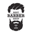 barber shop isolated vintage label badge emblem vector image vector image