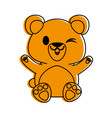 bear or cub cute animal cartoon icon image vector image vector image