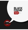 Black Friday sale speech bubble background vector image vector image