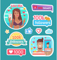 blogger day like me woman taking selfie vector image vector image