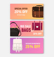 bundle of horizontal banner coupon or voucher vector image vector image